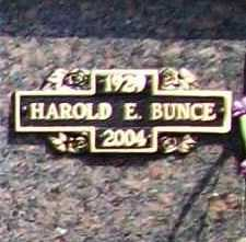 BUNCE, HAROLD E. - Benton County, Arkansas | HAROLD E. BUNCE - Arkansas Gravestone Photos