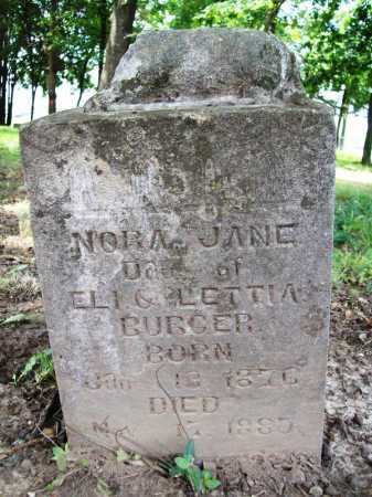 BURGER, NORA JANE - Benton County, Arkansas | NORA JANE BURGER - Arkansas Gravestone Photos
