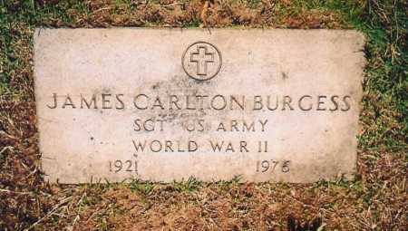 BURGESS (VETERAN WWII), JAMES CARLTON - Benton County, Arkansas | JAMES CARLTON BURGESS (VETERAN WWII) - Arkansas Gravestone Photos