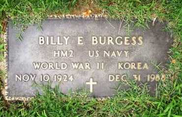 BURGESS (VETERAN 2 WARS), BILLY E. - Benton County, Arkansas | BILLY E. BURGESS (VETERAN 2 WARS) - Arkansas Gravestone Photos