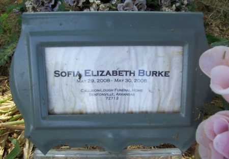 BURKE, SOFIA ELIZABETH - Benton County, Arkansas | SOFIA ELIZABETH BURKE - Arkansas Gravestone Photos