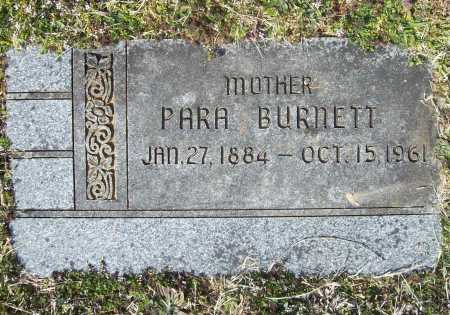 BURNETT, PARA - Benton County, Arkansas | PARA BURNETT - Arkansas Gravestone Photos