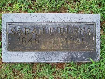BURNS, SARAH E. - Benton County, Arkansas | SARAH E. BURNS - Arkansas Gravestone Photos