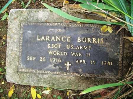 BURRIS (VETERAN WWII), LARANCE - Benton County, Arkansas | LARANCE BURRIS (VETERAN WWII) - Arkansas Gravestone Photos