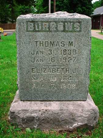 BURROWS, ELIZABETH JANE - Benton County, Arkansas | ELIZABETH JANE BURROWS - Arkansas Gravestone Photos