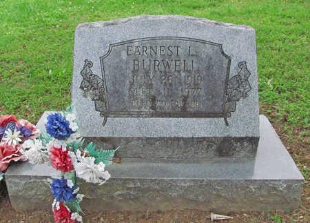 BURWELL (VETERAN WWII), EARNEST L - Benton County, Arkansas | EARNEST L BURWELL (VETERAN WWII) - Arkansas Gravestone Photos