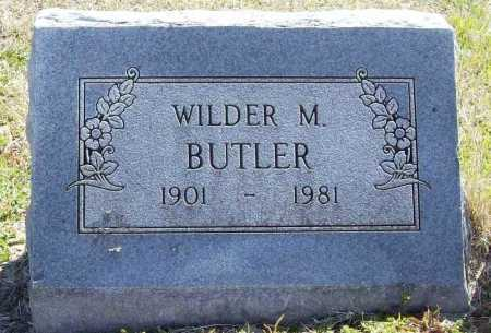 BUTLER, WILDER M. - Benton County, Arkansas | WILDER M. BUTLER - Arkansas Gravestone Photos