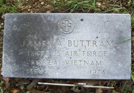 BUTTRAM (VETERAN 2 WARS), JAMES A - Benton County, Arkansas | JAMES A BUTTRAM (VETERAN 2 WARS) - Arkansas Gravestone Photos