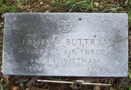 BUTTRAM (VETERAN 2 WARS), JAMES A - Benton County, Arkansas   JAMES A BUTTRAM (VETERAN 2 WARS) - Arkansas Gravestone Photos