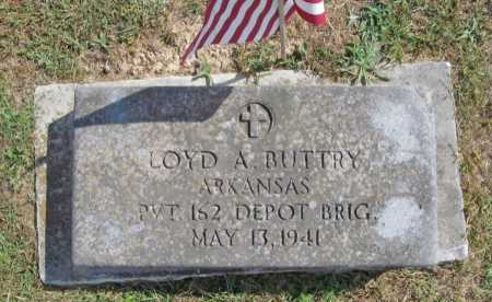BUTTRY (VETERAN), LOYD A - Benton County, Arkansas | LOYD A BUTTRY (VETERAN) - Arkansas Gravestone Photos