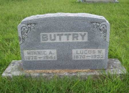 BUTTRY, MINNIE A. - Benton County, Arkansas | MINNIE A. BUTTRY - Arkansas Gravestone Photos