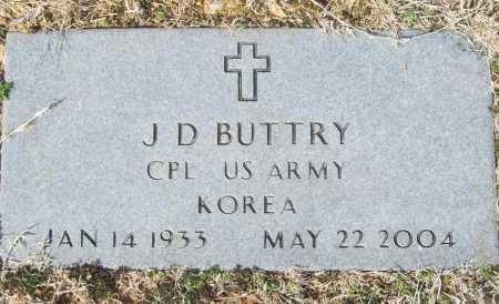 BUTTRY (VETERAN KOR), J D - Benton County, Arkansas | J D BUTTRY (VETERAN KOR) - Arkansas Gravestone Photos