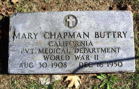 CHAPMAN BUTTRY (VETERAN WWII), MARY - Benton County, Arkansas | MARY CHAPMAN BUTTRY (VETERAN WWII) - Arkansas Gravestone Photos