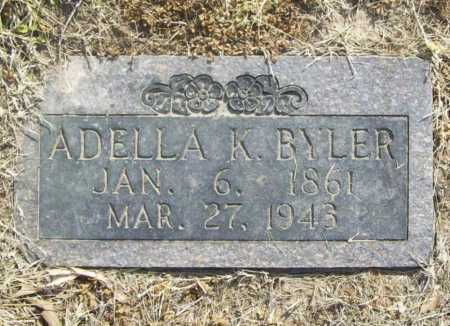 BYLER, ADELLA K. - Benton County, Arkansas | ADELLA K. BYLER - Arkansas Gravestone Photos
