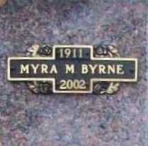 BYRNE, MYRA M. - Benton County, Arkansas | MYRA M. BYRNE - Arkansas Gravestone Photos