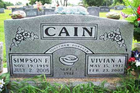 CAIN, SIMPSON FRANCIS - Benton County, Arkansas | SIMPSON FRANCIS CAIN - Arkansas Gravestone Photos