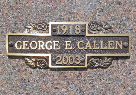 CALLEN, GEORGE E - Benton County, Arkansas | GEORGE E CALLEN - Arkansas Gravestone Photos