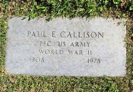 CALLISON (VETERAN WWII), PAUL E. - Benton County, Arkansas | PAUL E. CALLISON (VETERAN WWII) - Arkansas Gravestone Photos