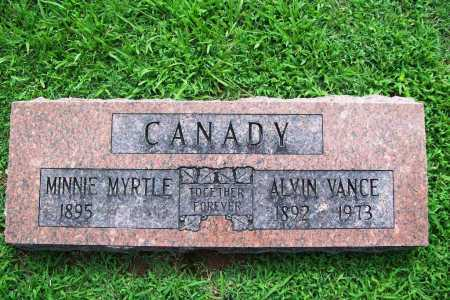 CANADY, ALVIN VANCE - Benton County, Arkansas | ALVIN VANCE CANADY - Arkansas Gravestone Photos