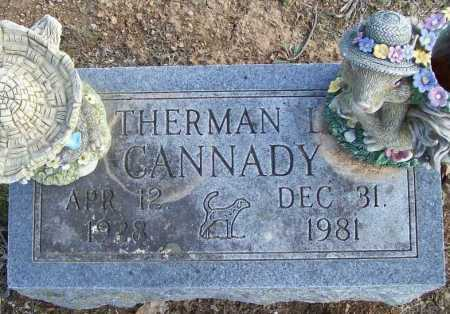 CANNADY, THERMAN L. - Benton County, Arkansas | THERMAN L. CANNADY - Arkansas Gravestone Photos