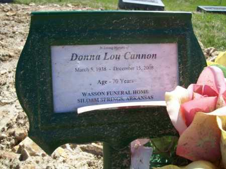 PORTER CANNON, DONNA LOU - Benton County, Arkansas | DONNA LOU PORTER CANNON - Arkansas Gravestone Photos