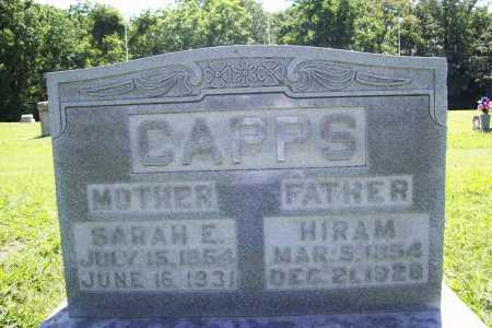 CAPPS, HIRAM - Benton County, Arkansas | HIRAM CAPPS - Arkansas Gravestone Photos