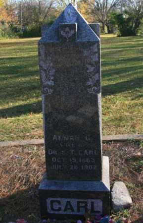CARL, ANNAH G. - Benton County, Arkansas | ANNAH G. CARL - Arkansas Gravestone Photos