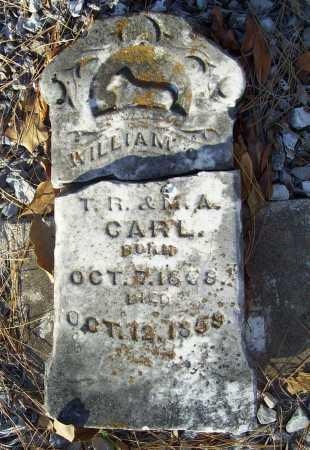 CARL, WILLIAM - Benton County, Arkansas | WILLIAM CARL - Arkansas Gravestone Photos