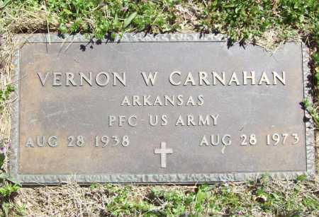 CARNAHAN (VETERAN), VERNON W - Benton County, Arkansas | VERNON W CARNAHAN (VETERAN) - Arkansas Gravestone Photos