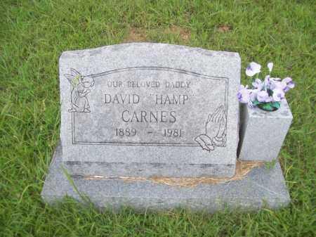 "CARNES, DAVID ""HAMP"" - Benton County, Arkansas | DAVID ""HAMP"" CARNES - Arkansas Gravestone Photos"