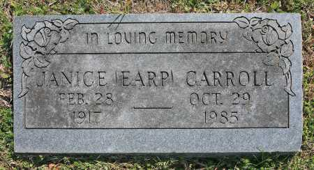 EARP CARROLL, JANICE - Benton County, Arkansas | JANICE EARP CARROLL - Arkansas Gravestone Photos
