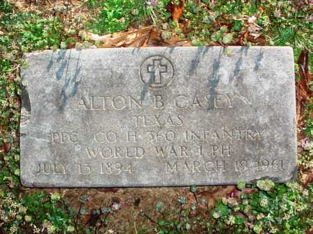 CASEY (VETERAN WWI), ALTON B - Benton County, Arkansas | ALTON B CASEY (VETERAN WWI) - Arkansas Gravestone Photos