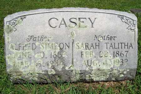 CASEY, ALFRED SIMEON - Benton County, Arkansas | ALFRED SIMEON CASEY - Arkansas Gravestone Photos