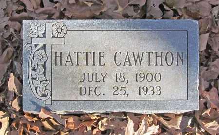 CAWTHON, HATTIE - Benton County, Arkansas | HATTIE CAWTHON - Arkansas Gravestone Photos