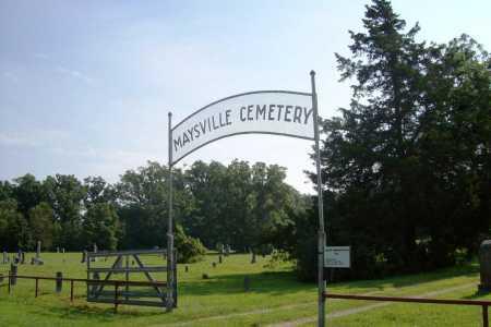 *MAYSVILLE CEMETERY GATE,  - Benton County, Arkansas |  *MAYSVILLE CEMETERY GATE - Arkansas Gravestone Photos