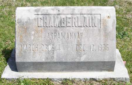 CHAMBERLAIN, ARRAWANNAH - Benton County, Arkansas | ARRAWANNAH CHAMBERLAIN - Arkansas Gravestone Photos
