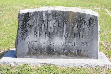CHAMBERLAIN, OLLIE - Benton County, Arkansas | OLLIE CHAMBERLAIN - Arkansas Gravestone Photos