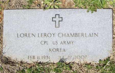 CHAMBERLAIN (VETERAN KOR), LOREN LEROY - Benton County, Arkansas | LOREN LEROY CHAMBERLAIN (VETERAN KOR) - Arkansas Gravestone Photos