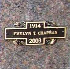 CHAPMAN, EVELYN T. - Benton County, Arkansas | EVELYN T. CHAPMAN - Arkansas Gravestone Photos