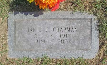 GERMAINE CHAPMAN, JANIE C - Benton County, Arkansas | JANIE C GERMAINE CHAPMAN - Arkansas Gravestone Photos