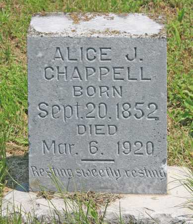 CHAPPELL, ALICE J - Benton County, Arkansas | ALICE J CHAPPELL - Arkansas Gravestone Photos
