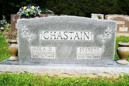 DOUGLAS CHASTAIN, NOLA - Benton County, Arkansas | NOLA DOUGLAS CHASTAIN - Arkansas Gravestone Photos