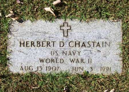 CHASTAIN (VETERAN WWII), HERBERT D. - Benton County, Arkansas | HERBERT D. CHASTAIN (VETERAN WWII) - Arkansas Gravestone Photos