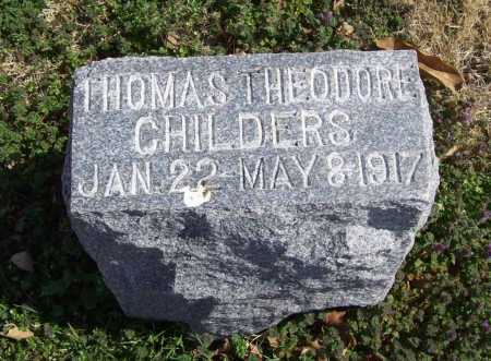 CHILDERS, THOMAS THEODORE - Benton County, Arkansas | THOMAS THEODORE CHILDERS - Arkansas Gravestone Photos
