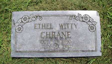 WITTY CHRANE, ETHEL - Benton County, Arkansas | ETHEL WITTY CHRANE - Arkansas Gravestone Photos