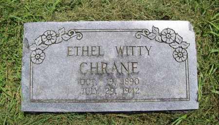 WITTY CHRANE, ETHEL - Benton County, Arkansas | ETHEL WITTY CHRANE - Arkansas Gravestone Photos