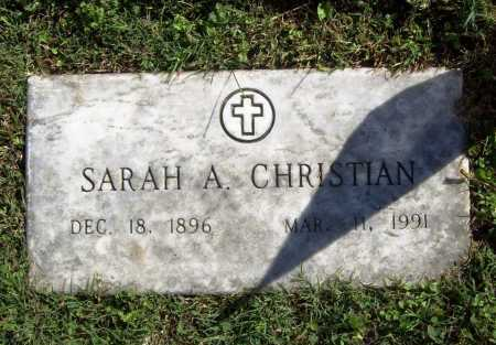 CHRISTIAN, SARAH A. - Benton County, Arkansas | SARAH A. CHRISTIAN - Arkansas Gravestone Photos
