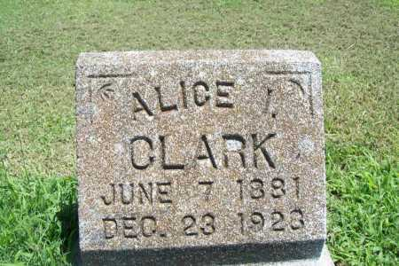 CLARK, ALICE I. - Benton County, Arkansas | ALICE I. CLARK - Arkansas Gravestone Photos