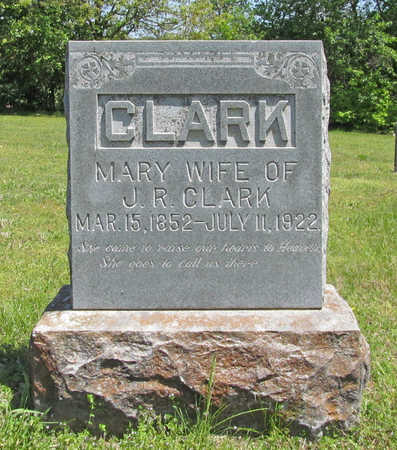 CLARK, MARY - Benton County, Arkansas | MARY CLARK - Arkansas Gravestone Photos