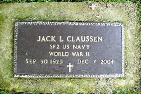 CLAUSSEN (VETERAN WWII), JACK L. - Benton County, Arkansas | JACK L. CLAUSSEN (VETERAN WWII) - Arkansas Gravestone Photos
